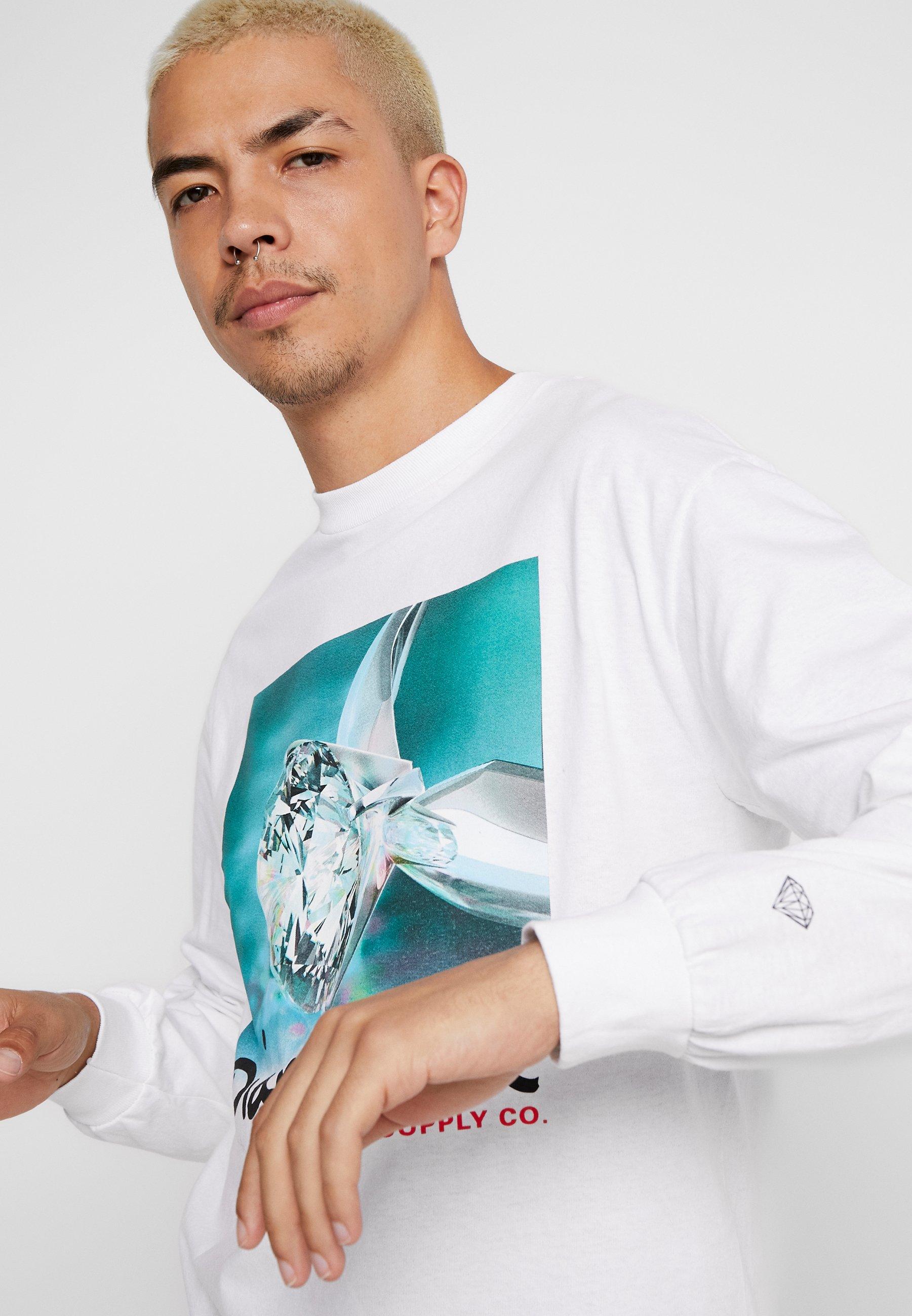 Diamond Supply Co. SHIMMER TEE - Camiseta de manga larga white