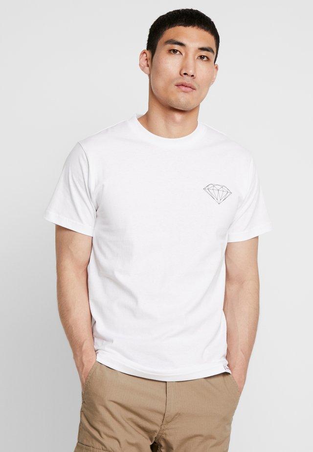BRILLIANT TEE - T-shirt imprimé - white