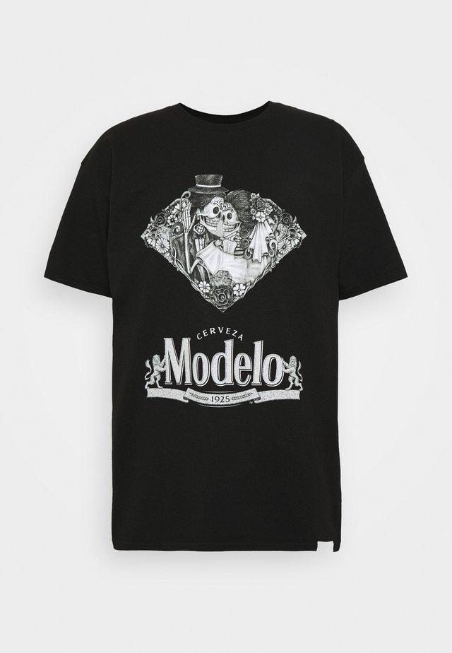 DIA DE LOS MUERTOS TEE - T-shirt z nadrukiem - black