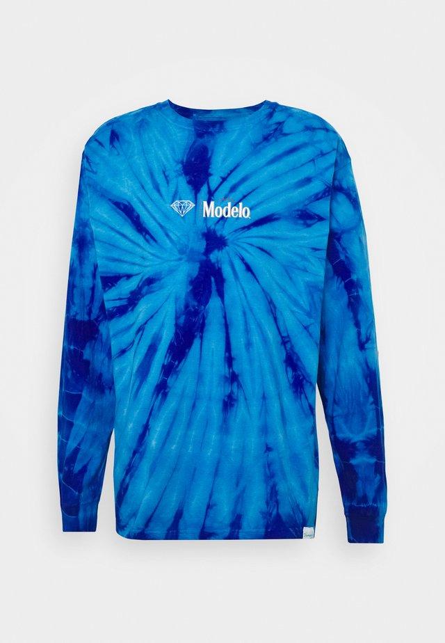 CALAVERA TIE DYE TEE - Topper langermet - dark blue