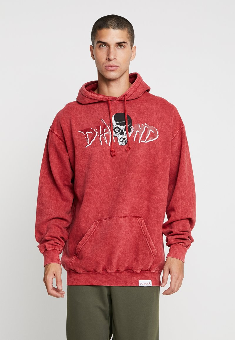 Diamond Supply Co. - BURIAL GROUND CRYSTAL HOODIE - Hoodie - red