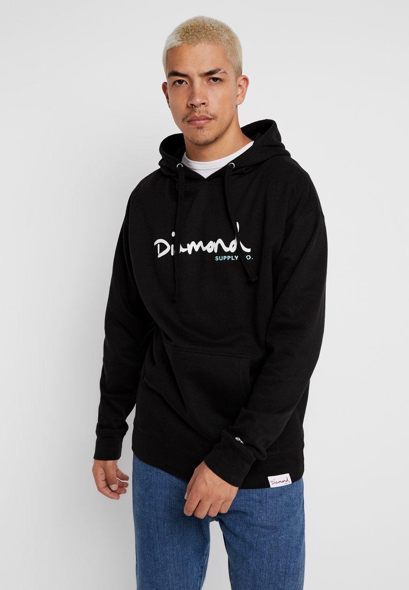 Diamond Supply Co. - SHIMMER SCRIPT HOODIE - Hættetrøjer - black