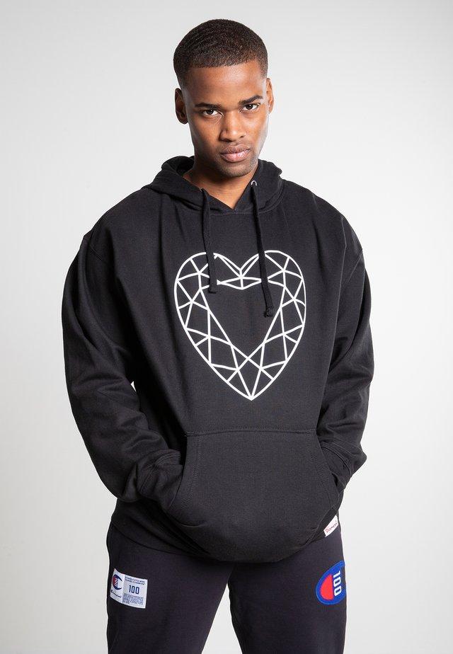 HEART CUT - Hoodie - black