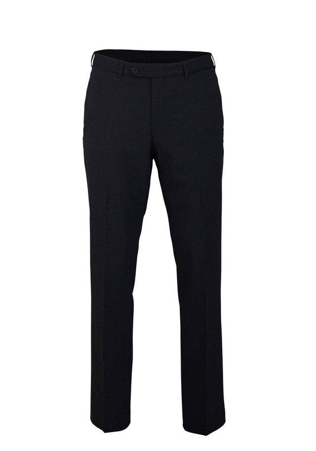 MIT BGELFALTE SCHWARZ - Suit trousers - schwarz