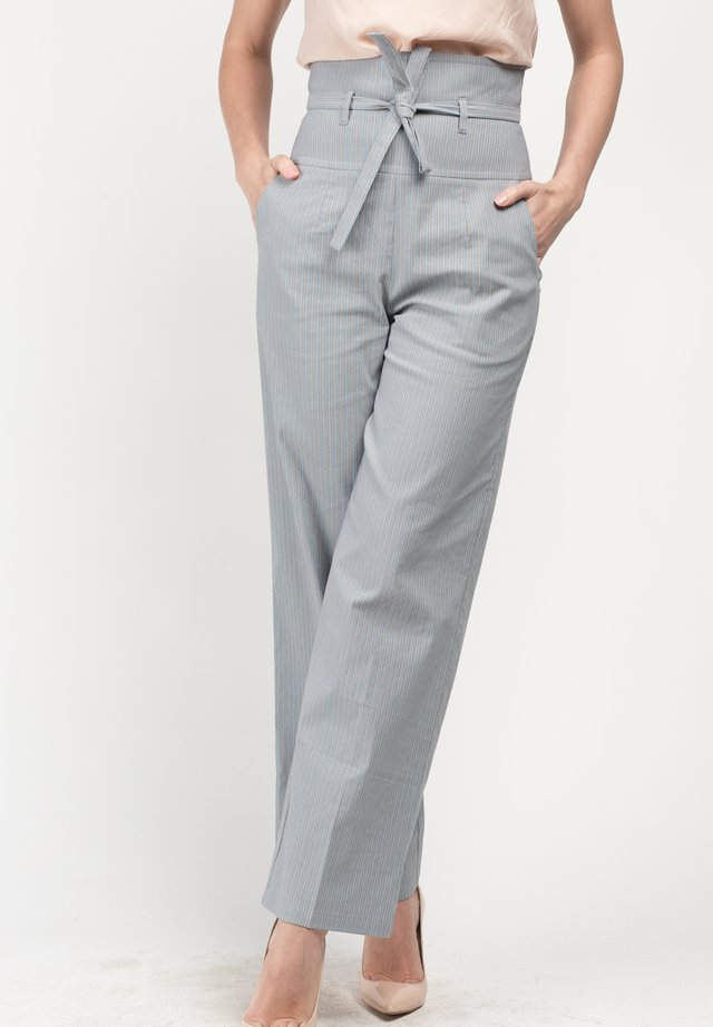 MELNI - Trousers - gray stripes