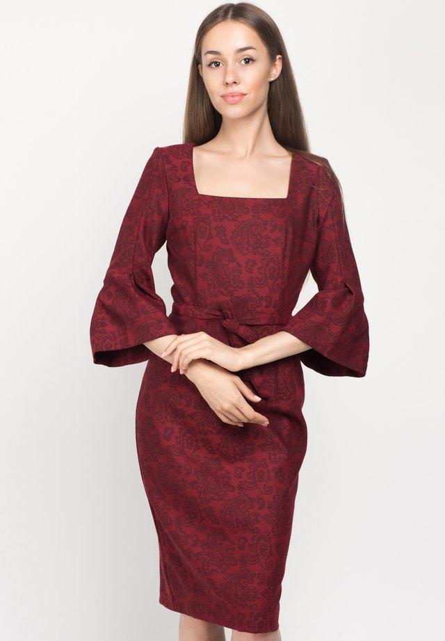 Korte jurk - burgundy