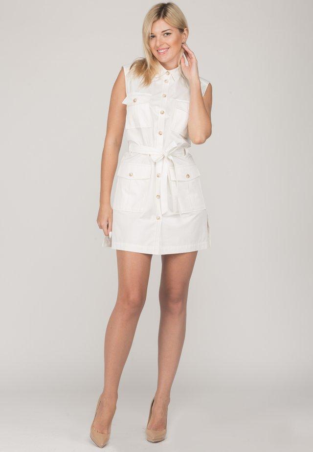 FACTOR - Shirt dress - white gloss