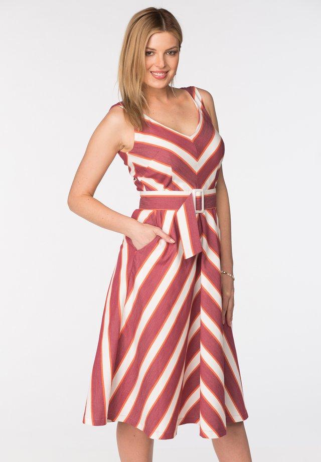 DRESS VIVAT - Day dress - red and white stripes