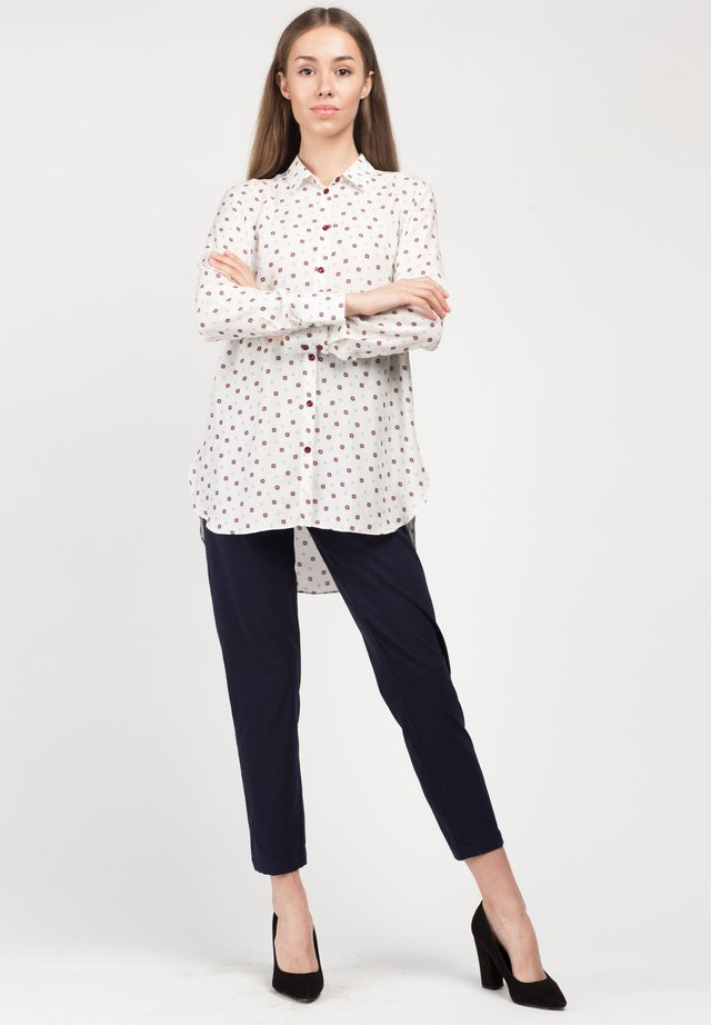 KISHE - Button-down blouse - white printed