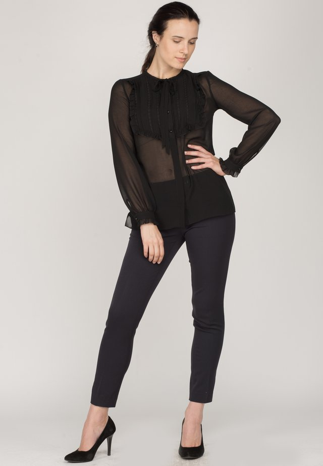 RUFFLES - Blouse - black