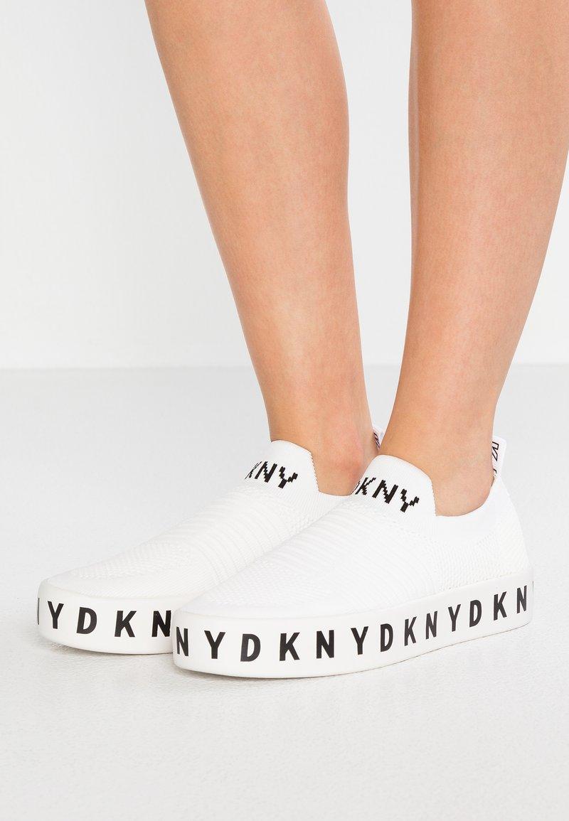 DKNY - BREA PLATFORM - Loafers - white