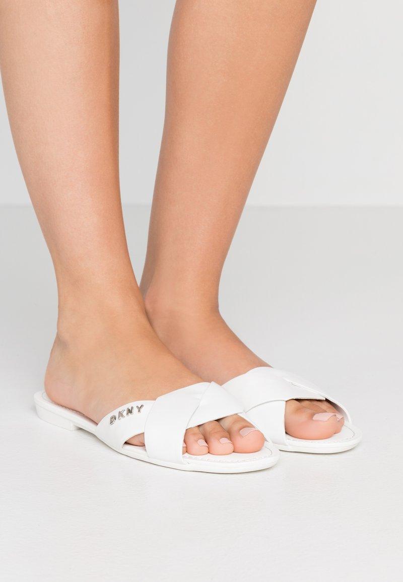 DKNY - KIARA FLAT  - Mules - white