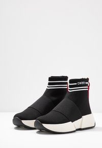 DKNY - MARINI - Sneakers hoog - black/white - 4