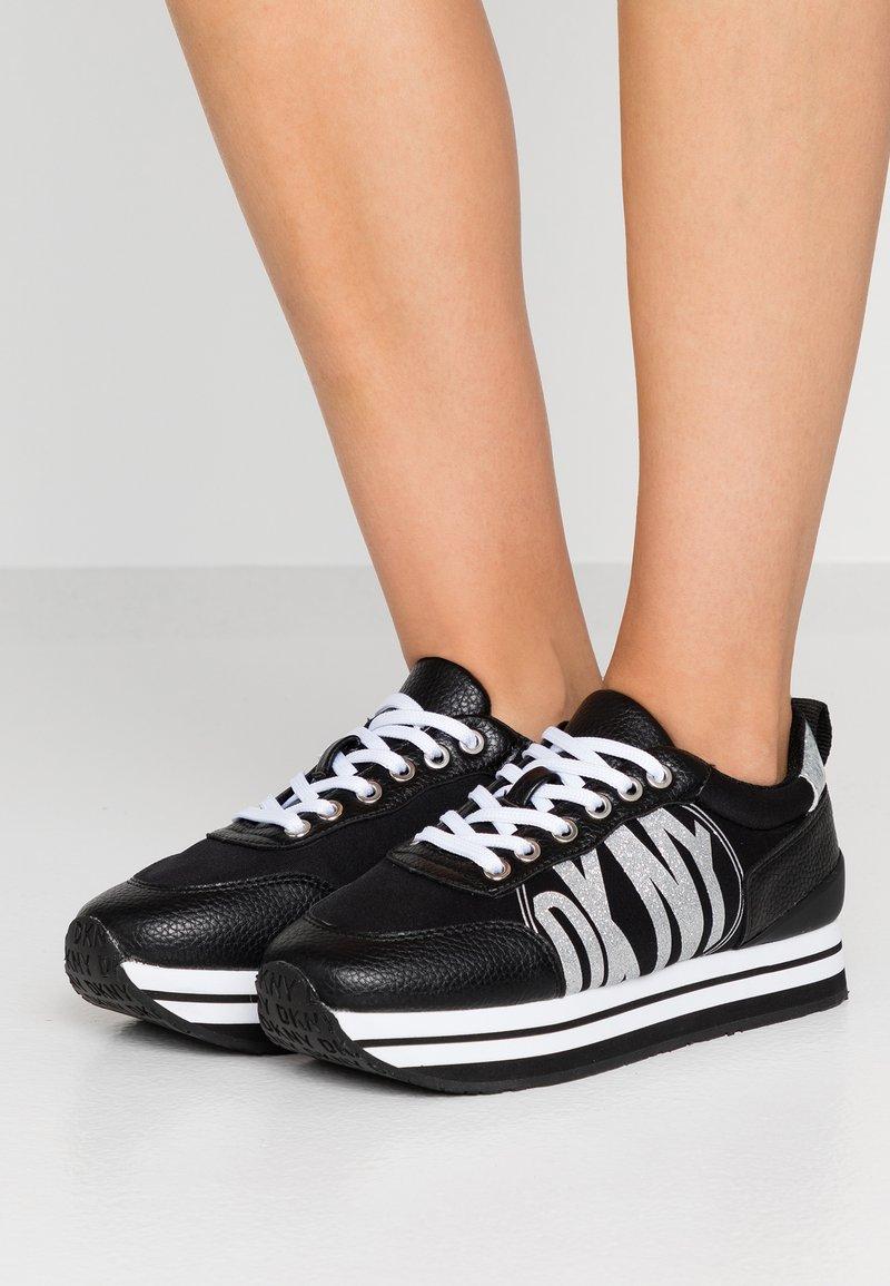 DKNY - PANYA - Zapatillas - black/silver