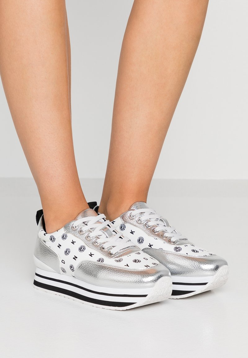 DKNY - POLY - Sneakers - silver