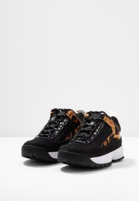 DKNY - DANI - Sneakers laag - black/camel/multicolor - 4