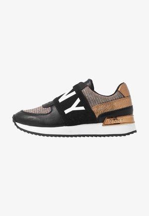 MARLI - Loafers - black/bronze