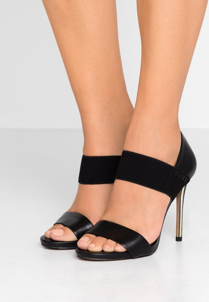 DKNY - IVA STRAP - High heeled sandals - black
