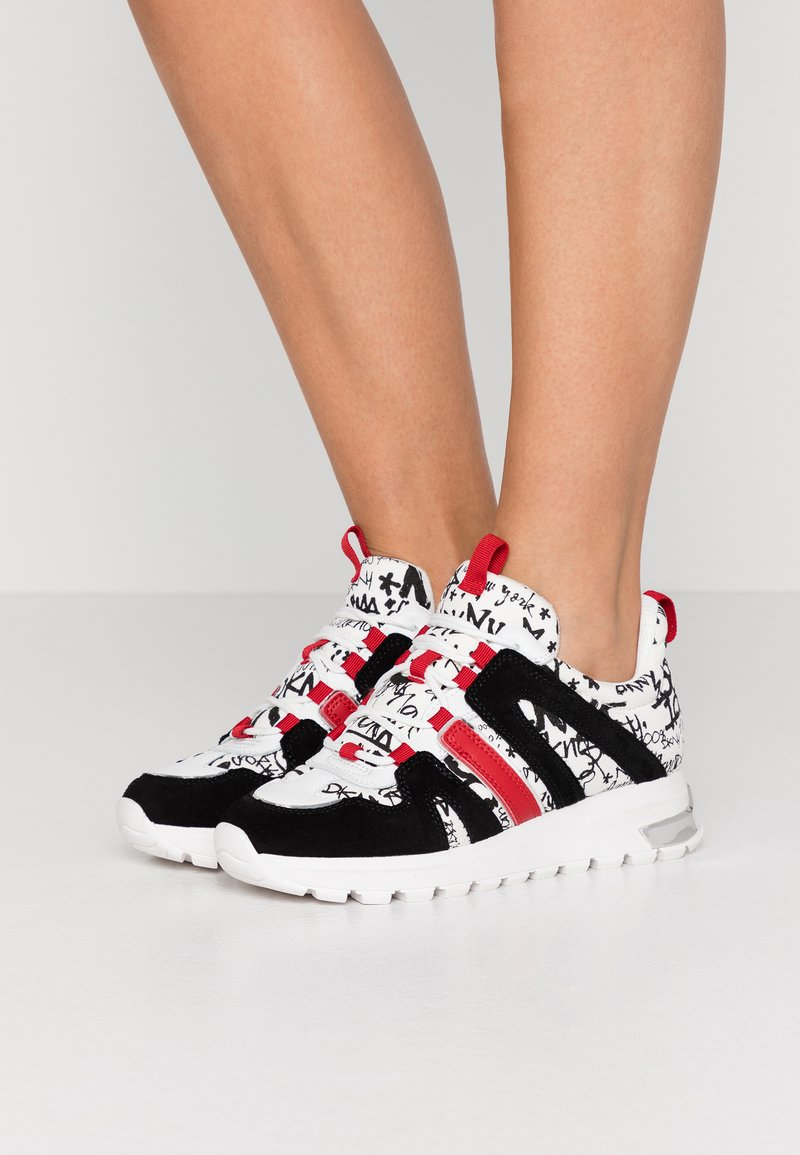 DKNY - MAY LACE UP  - Sneakers - white/black