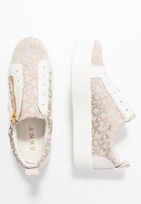 DKNY - BRADI PLATFORM ZIPPER  - Sneakers - beige - 3