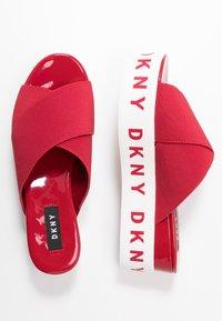 DKNY - CRISTI PLATFORM - Pantofle na podpatku - red - 3