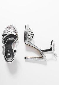 DKNY - LIPA ANKLE STRAP PLATFORM - High heeled sandals - silver - 3