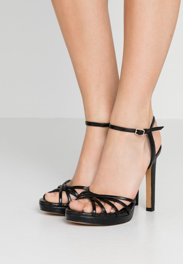 LIPA ANKLE STRAP PLATFORM  - High heeled sandals - black