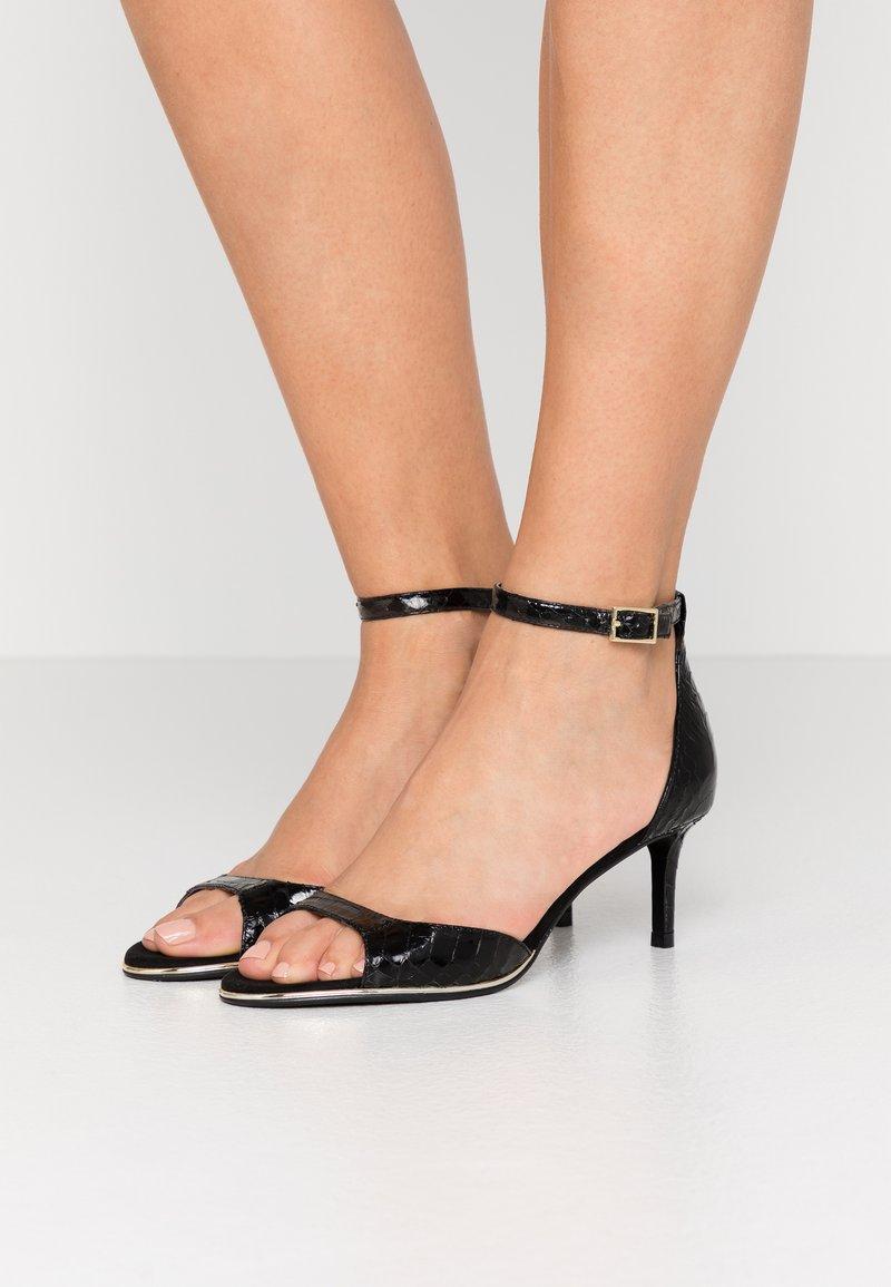 DKNY - GISELLE ANKLE STRAP - Sandals - black