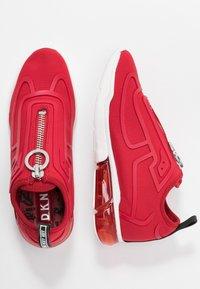 DKNY - NILLI ZIPPER - Sneakers - red - 3