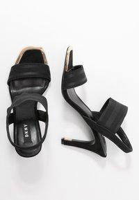 DKNY - BRYSON MULTI STRAP SLINGBACK  - Højhælede sandaletter / Højhælede sandaler - black - 3