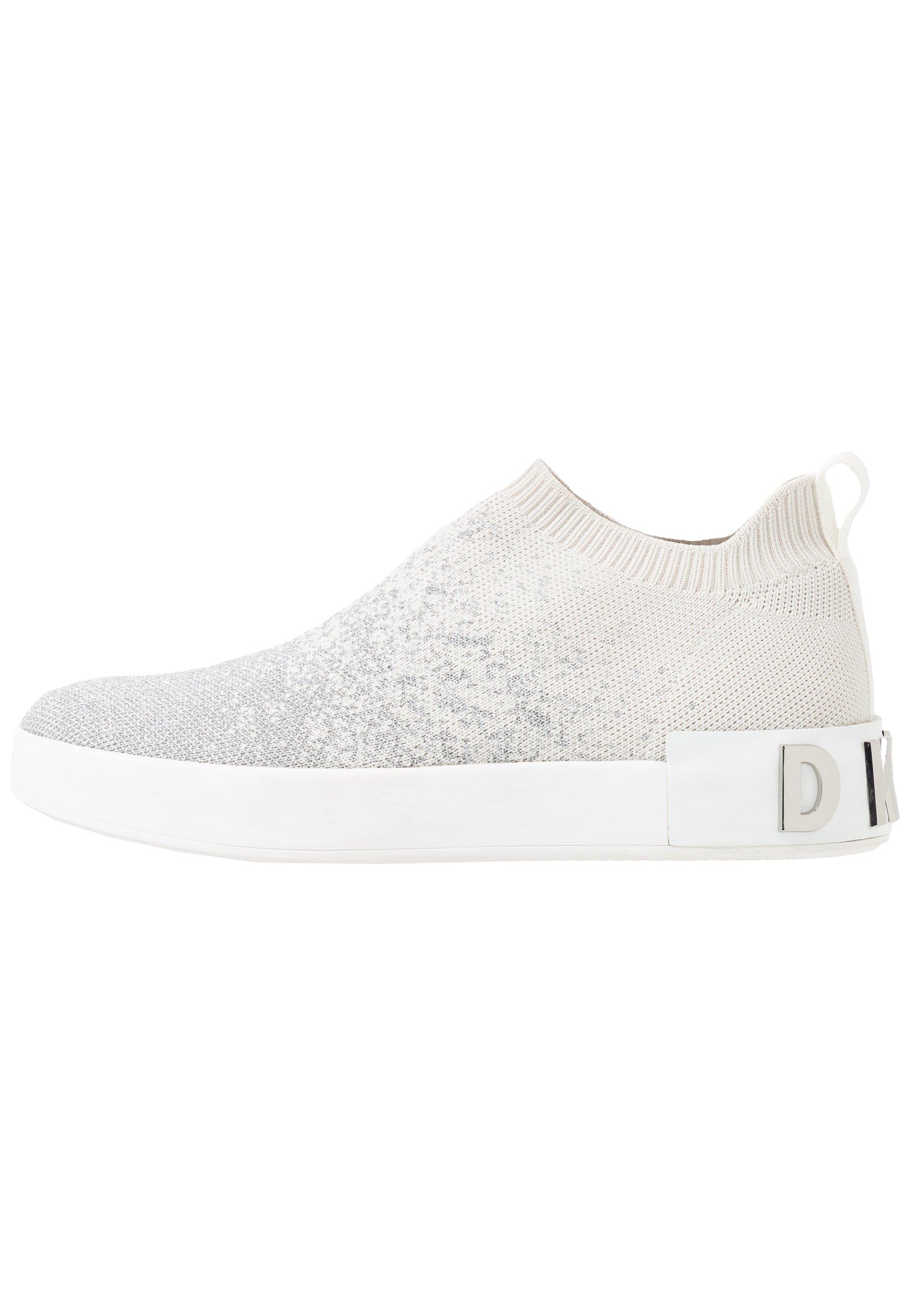 DKNY SAYDA SOCK - Półbuty wsuwane - silver/white