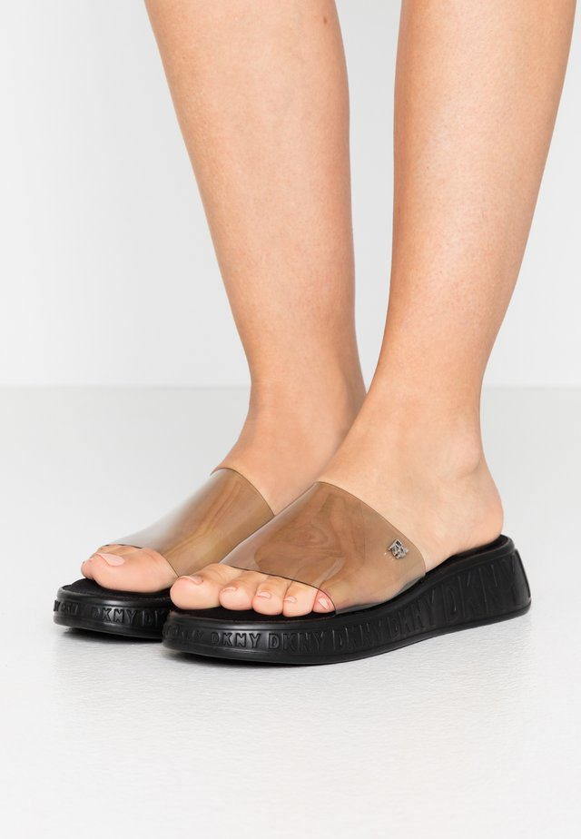 MEZZ SLIDE - Slip-ins - smokey black
