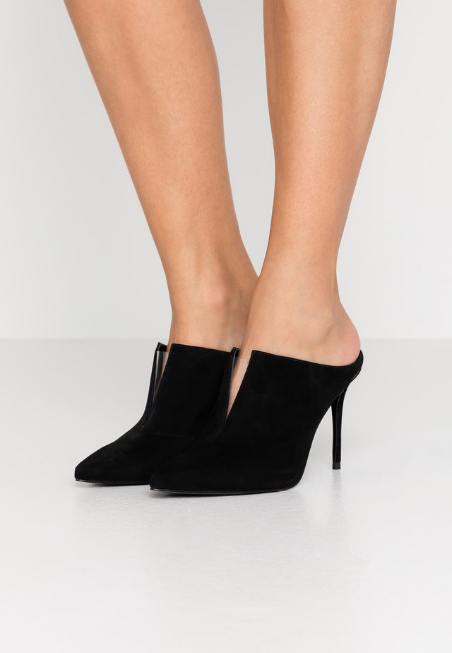 DACEY  - Heeled mules - black/clear