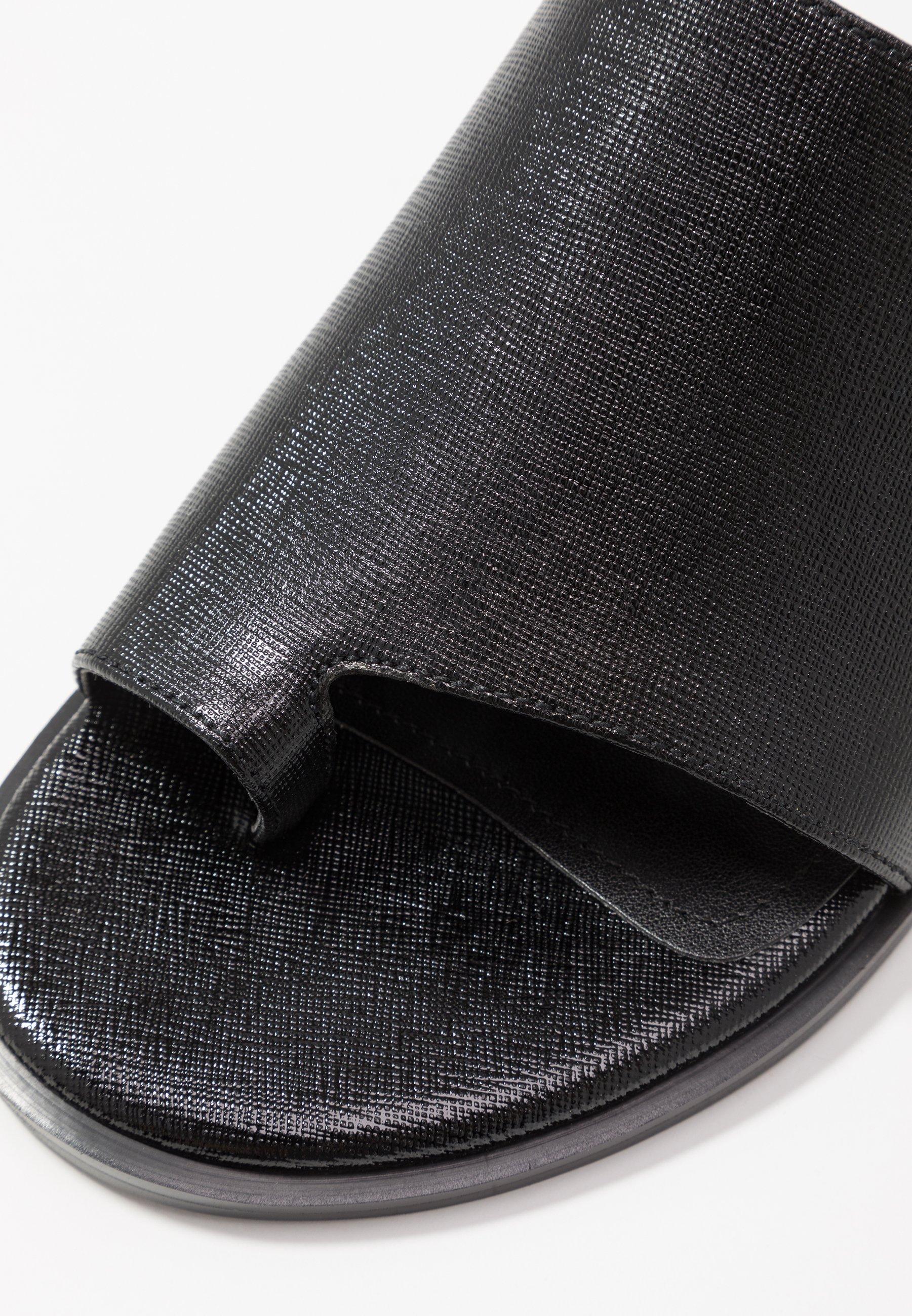 Dkny Daz Flat Slide - Tongs Black
