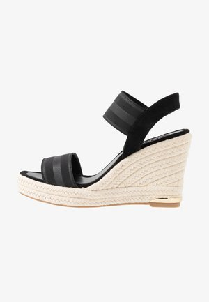 CAT SLINGBACK WEDGE  - High heeled sandals - black