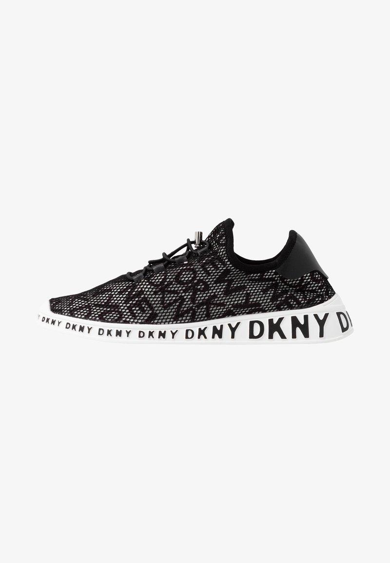 DKNY - LACE UP  - Tenisky - white/black