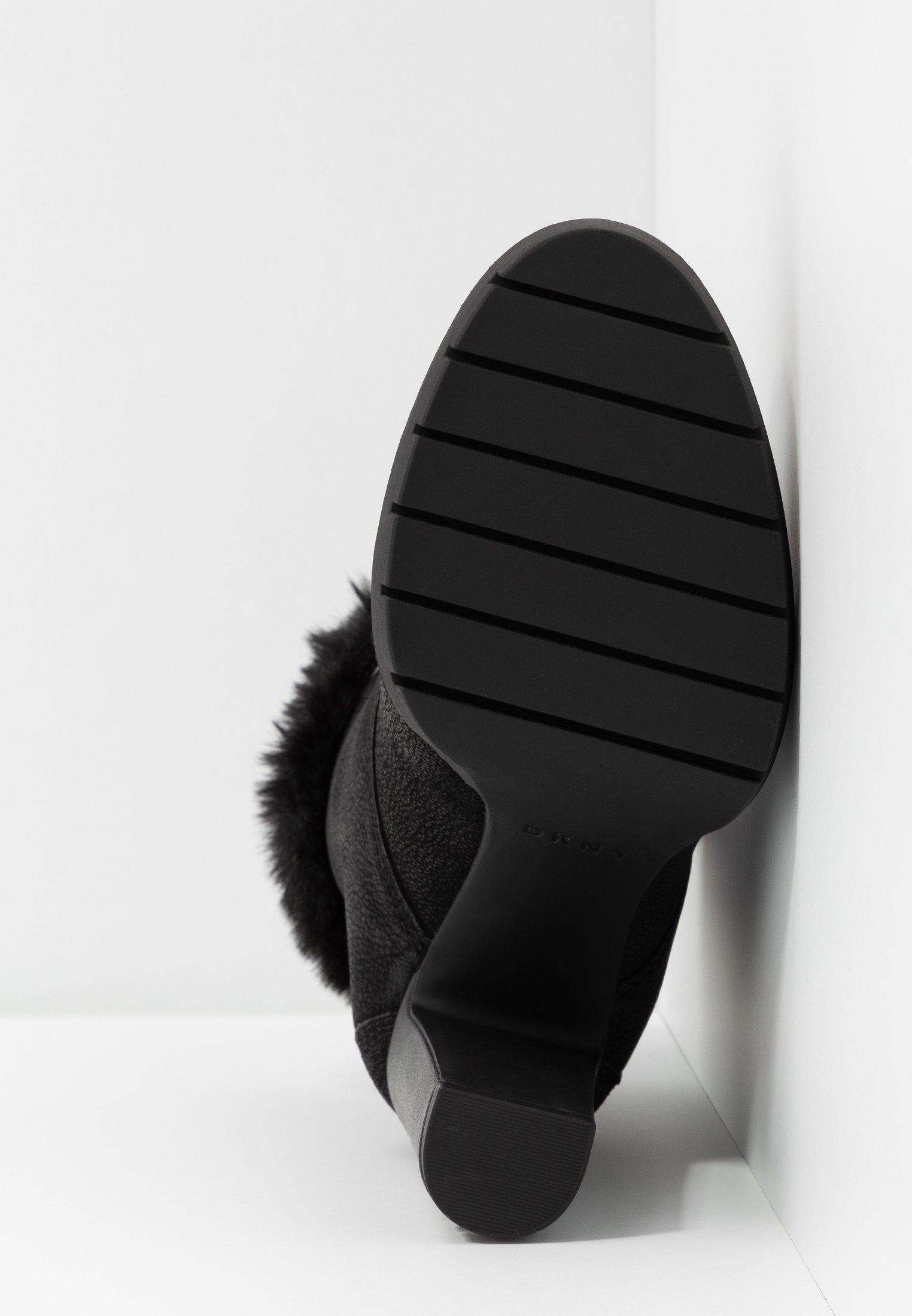 DKNY DARCY LACE UP BOOTIE - Ankelboots med høye hæler - black