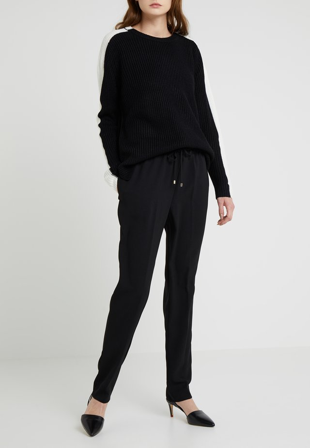 PULL ON PANT DRAWCORD - Trousers - black