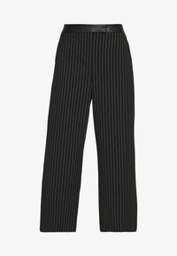 DKNY - WIDE LEG PANT - Pantalones - black/ivory - 5
