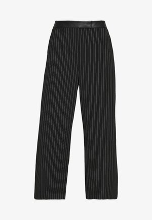 WIDE LEG PANT - Pantalon classique - black/ivory