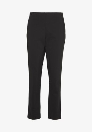 STRAIGHT LEG PANT SIDE ZIP - Kangashousut - black