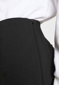 DKNY - STRAIGHT LEG PANT SIDE ZIP - Trousers - black - 4
