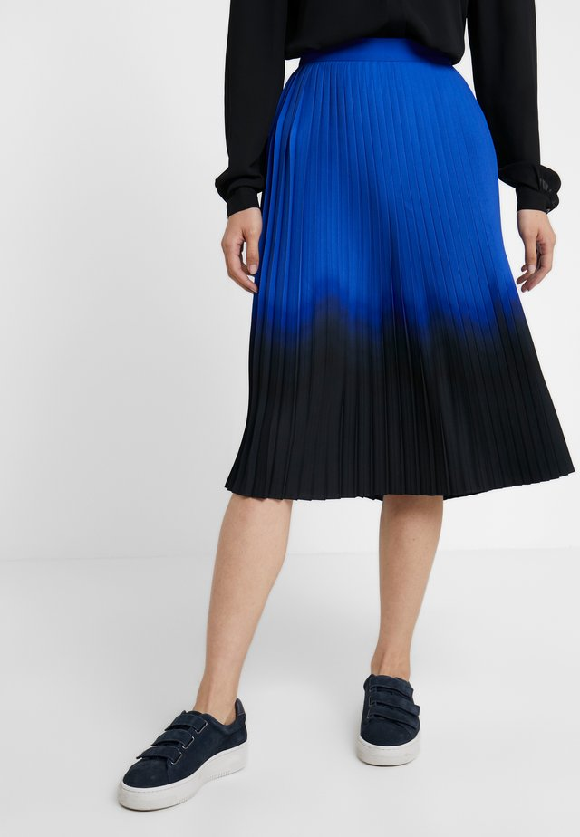 PLEATED SKIRT - A-line skirt - blue