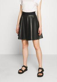 DKNY - CIRCLE SKIRT - A-snit nederdel/ A-formede nederdele - black - 0