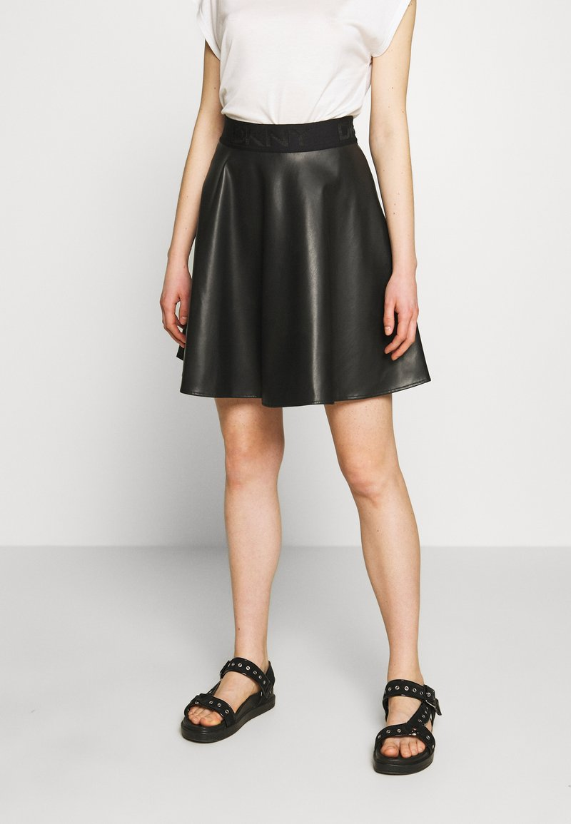DKNY - CIRCLE SKIRT - A-snit nederdel/ A-formede nederdele - black