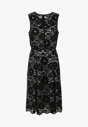FIT FLARE DRESS - Koktejlové šaty/ šaty na párty - black/ivory