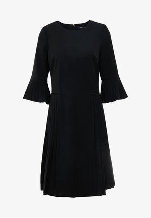 SLEEVE PLEATED BLACK DRESS - Robe d'été - black