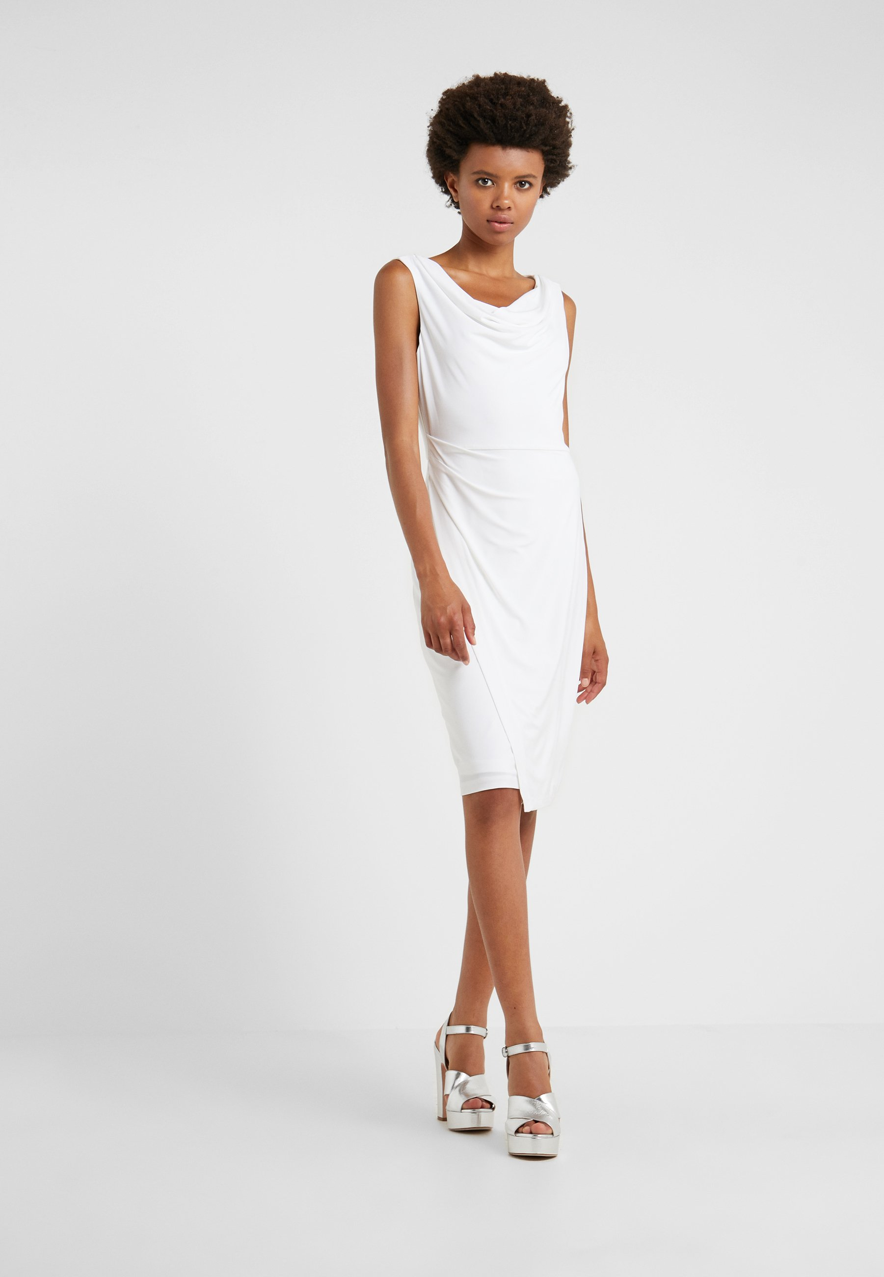 Dkny Sheath With Ruching - Tubino Ivory kaYzHeY
