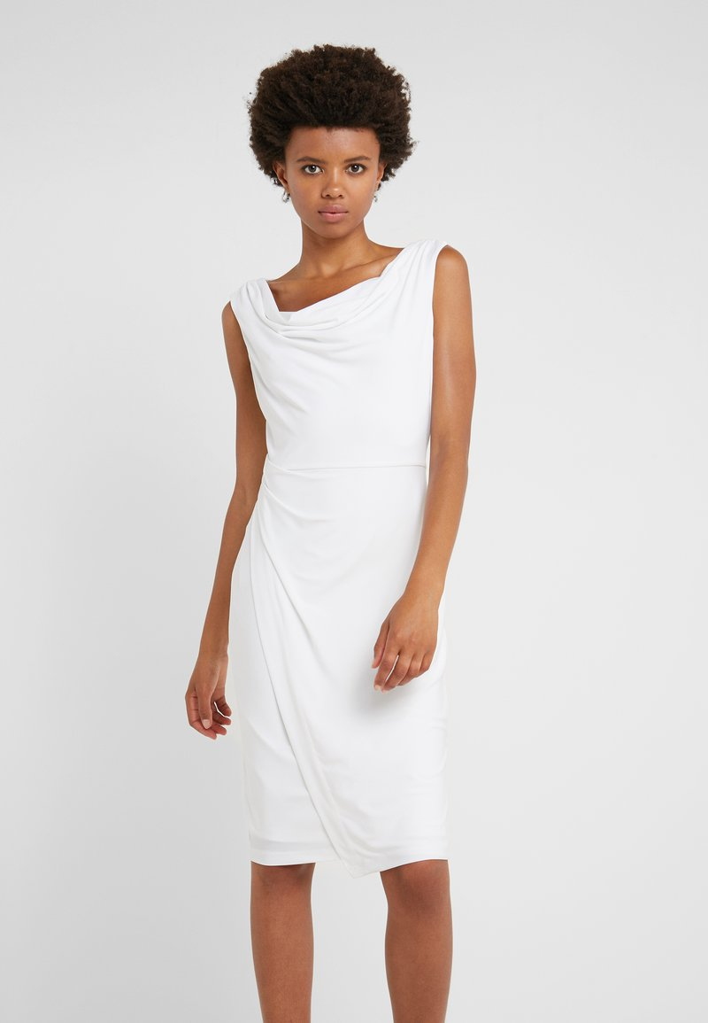 DKNY - SHEATH WITH RUCHING - Etui-jurk - ivory
