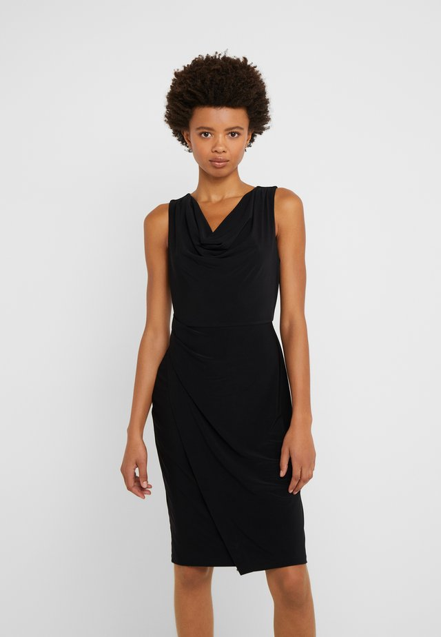 SHEATH WITH RUCHING - Shift dress - black